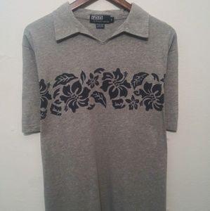 Ralph Lauren Mens Size Large Gray & Blue Shirt